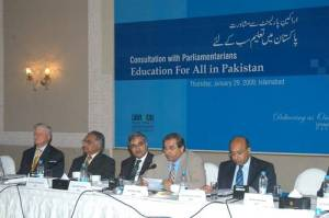 Parliamentarians on 'Education For All in Pakistan'
